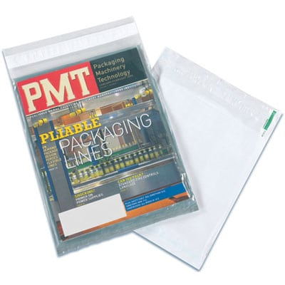 Magazine Bag sealed with bag sealing tape