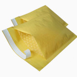 Yellow Colored Jiffy Padded Bubble Envelope sealed with permanent bag sealing tape