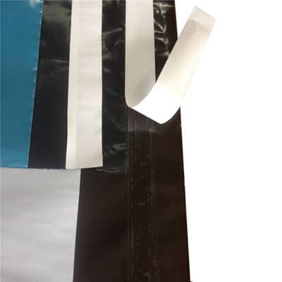 Double sided tape used to seal mailing bags