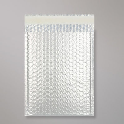white aluminum coated bubble bag sealed by bag sealing tape