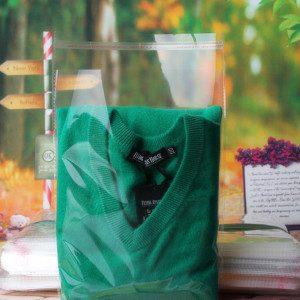 BOPP plastic pakcaging bag with Bag Sealing Strip