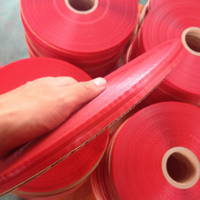 Bag Sealing Tape with red liner and center glue