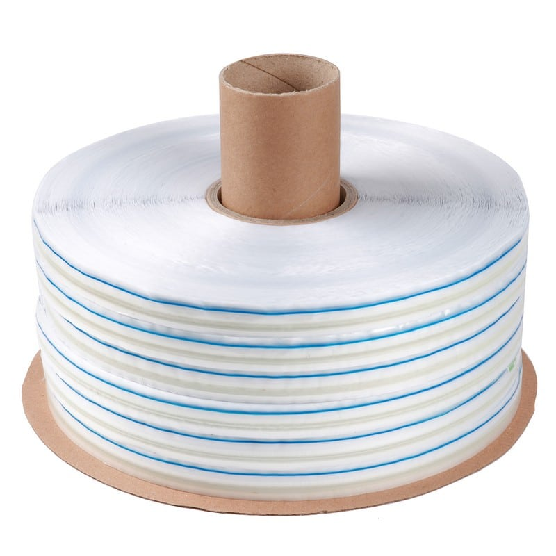 Bag Sealing Tape with Blue Line Printed HDPE Film